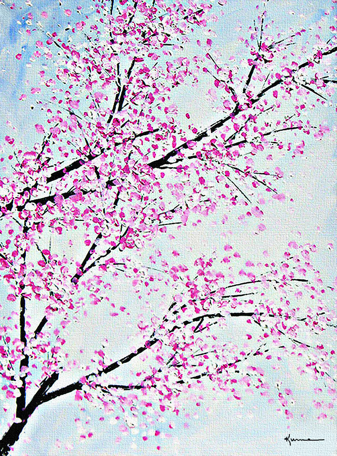 Cherry Blossoms Painting - Pink Spring by Kume Bryant