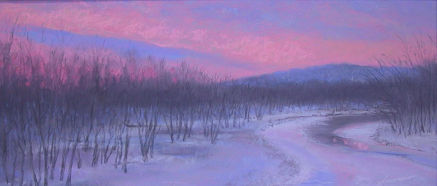 Chippewa Pastel - Pink Sunrise At Catfish Corner by Sherri Anderson