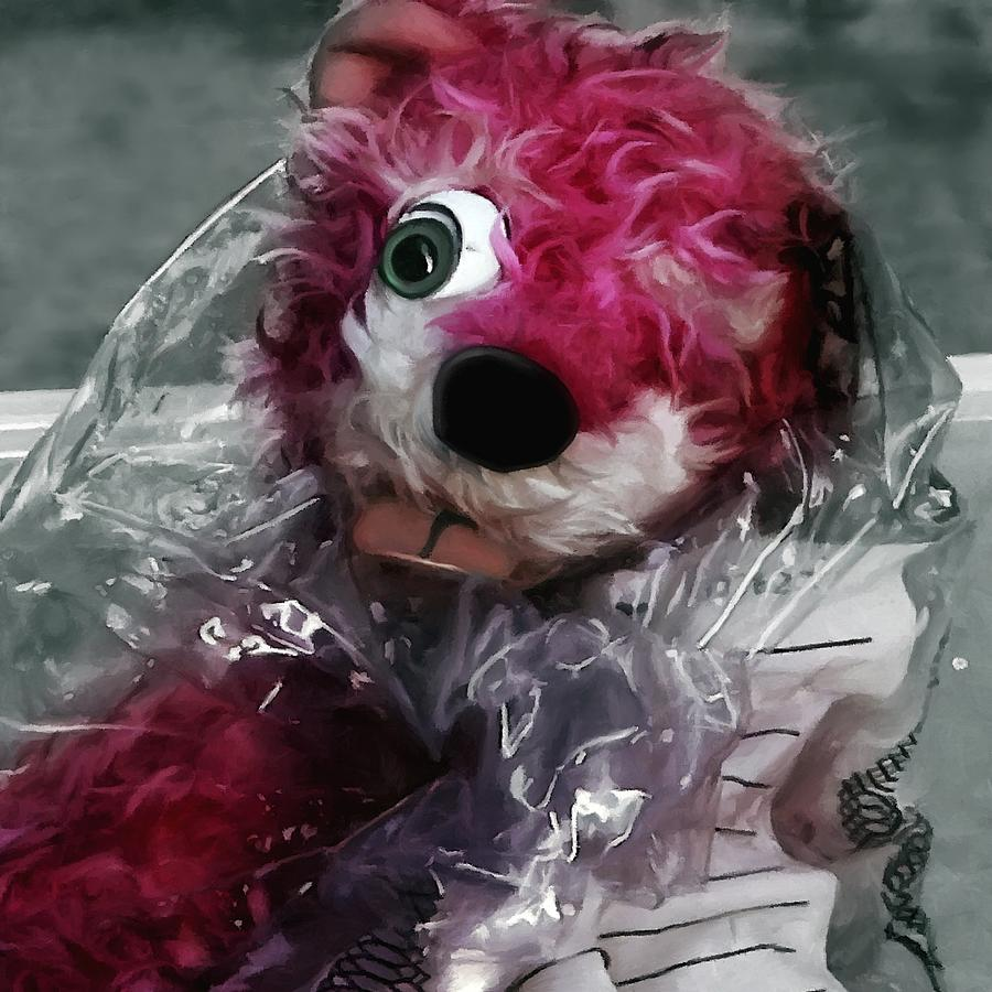 Breaking Bad Digital Art - Pink Teddy Bear in evidence bag @ TV serie Breaking Bad by Gabriel T Toro