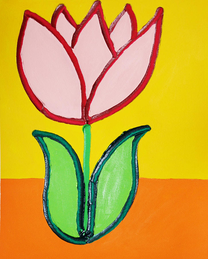 Tulip Painting - Pink Tulip by Matthew Brzostoski