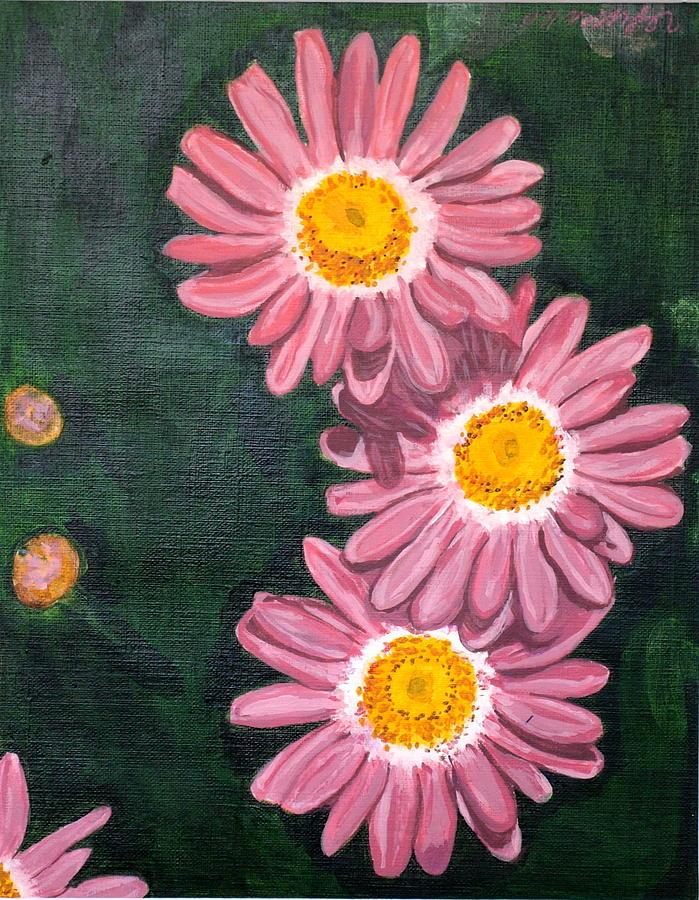 Flowers Painting - Pink by Vera Lysenko