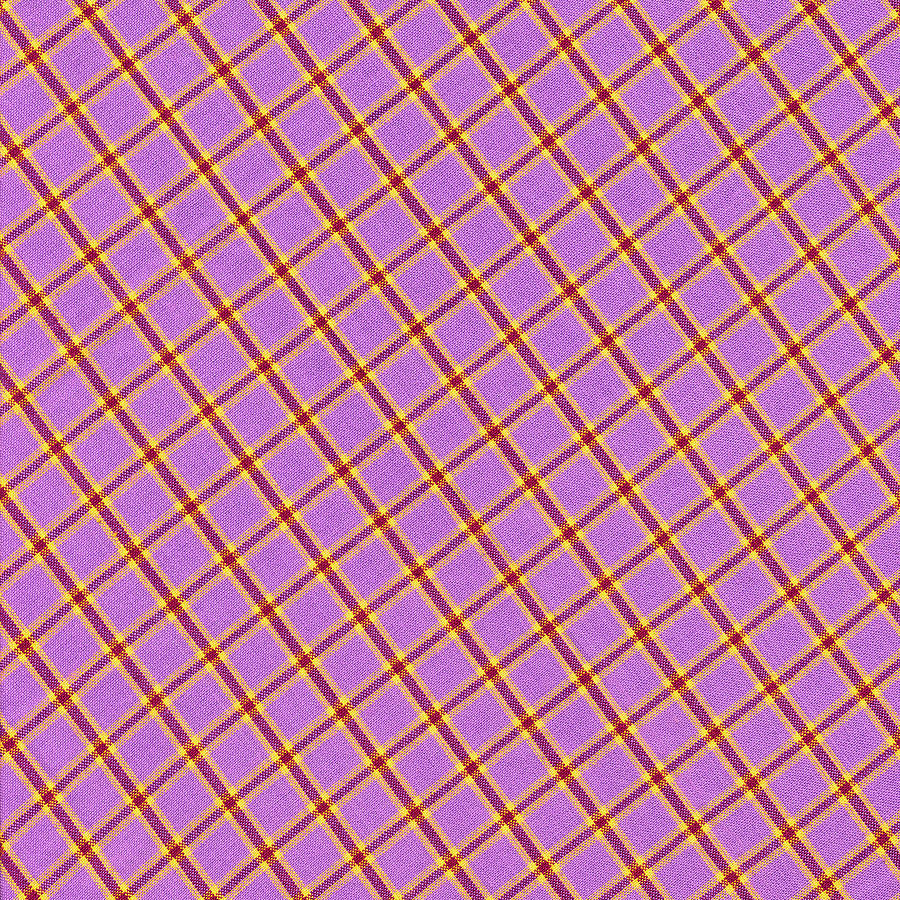 Pink Yellow Red Plaid Textile Fabric Background Photograph
