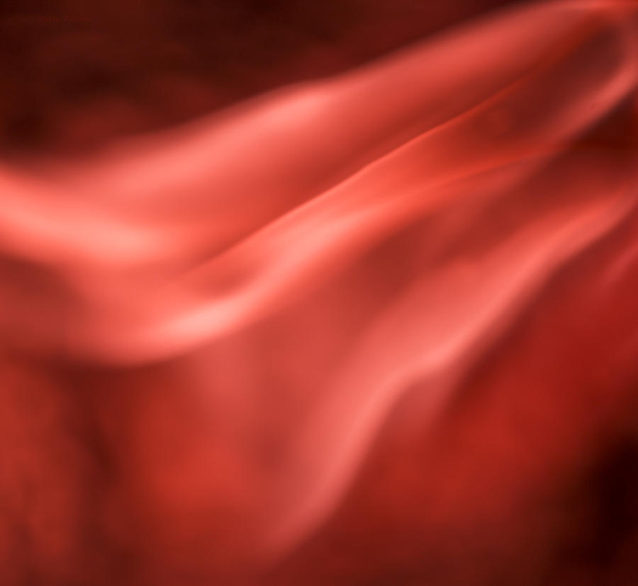 Ignition Photograph - Pinky Red by Steven Poulton