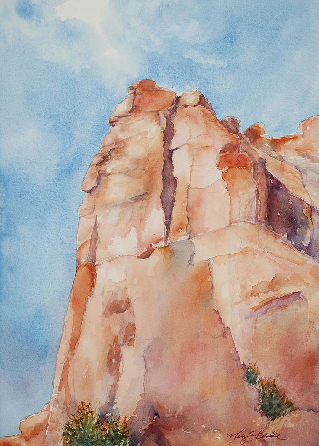 Utah Painting - Pinnacle by Mary Benke
