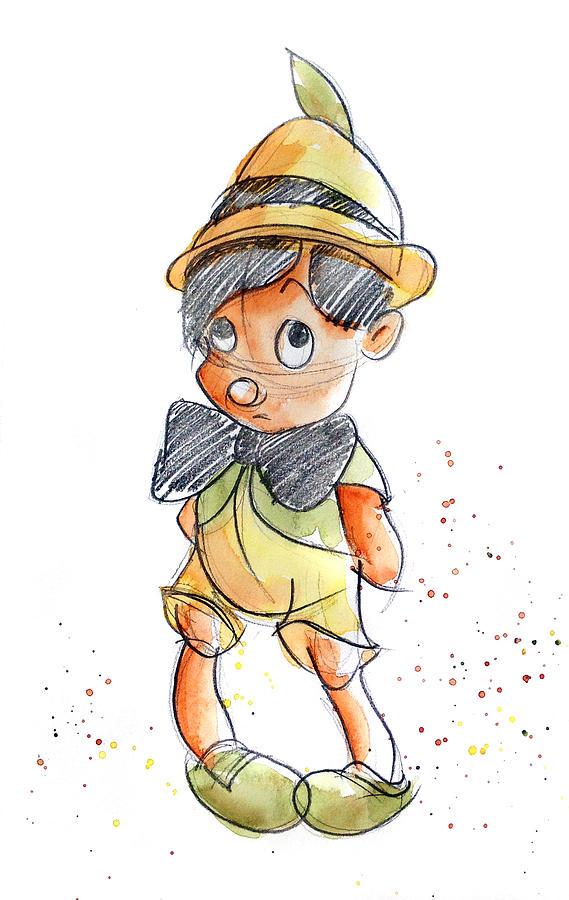 Pinnochio Painting - Pinocchio by Andrew Fling