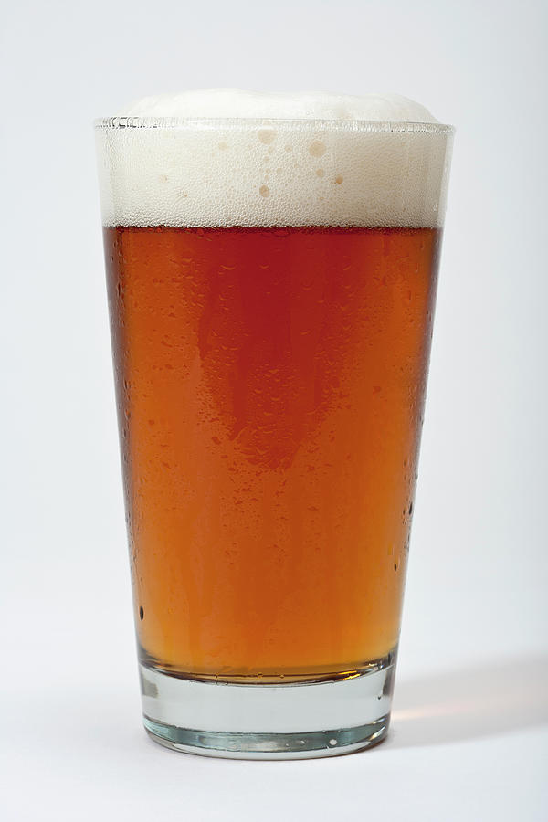 Pint Of Frothy Beer Photograph by Stewart Waller