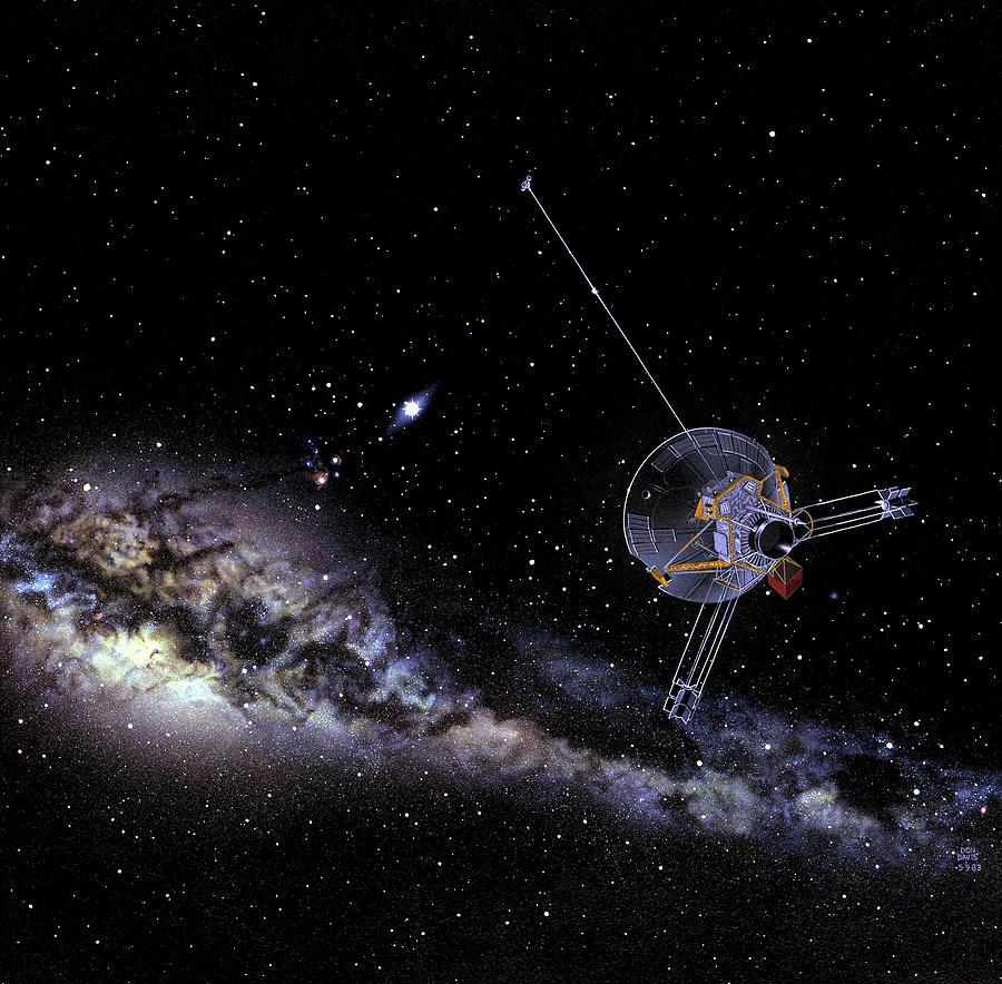 Nobody Photograph - Pioneer Spacecraft In Interstellar Space by Nasa
