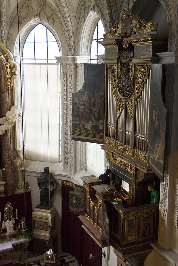 Pipe Organ Stall In Hofkirche (court Church). Photograph by Dennis K. Johnson
