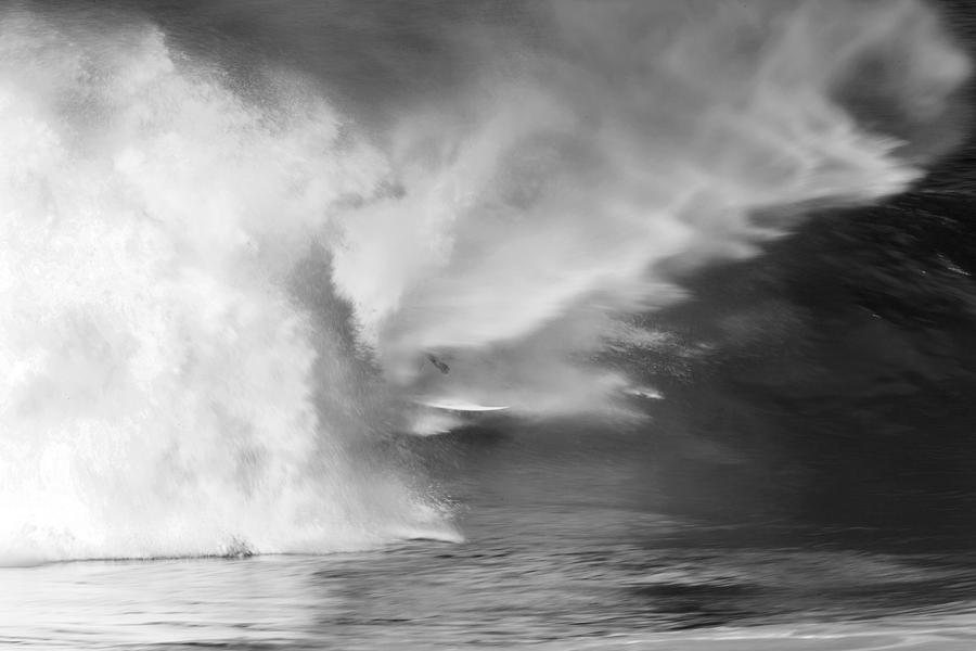 Black And White Photograph - Pipe Spit by Sean Davey
