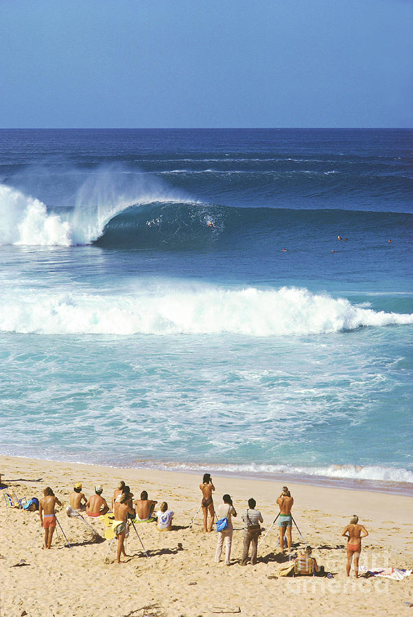 Hawaii Photograph - Pipeline Masters  Hawaii  1977 by Lance Trout