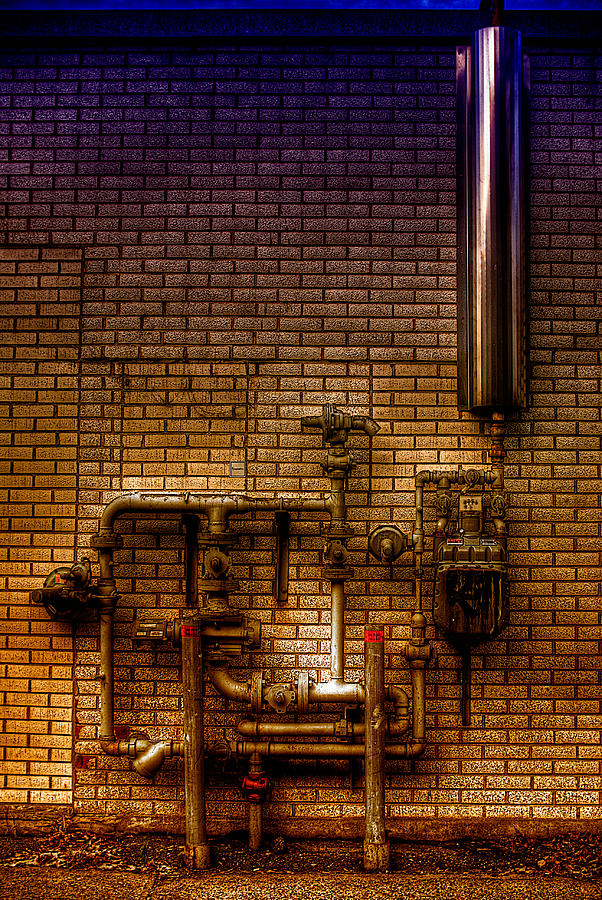 Hdr Photograph - Pipes by Andre Faubert