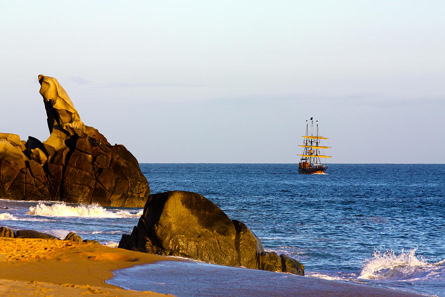 Pirate Ship In Cabo Photograph by Shane Bechler