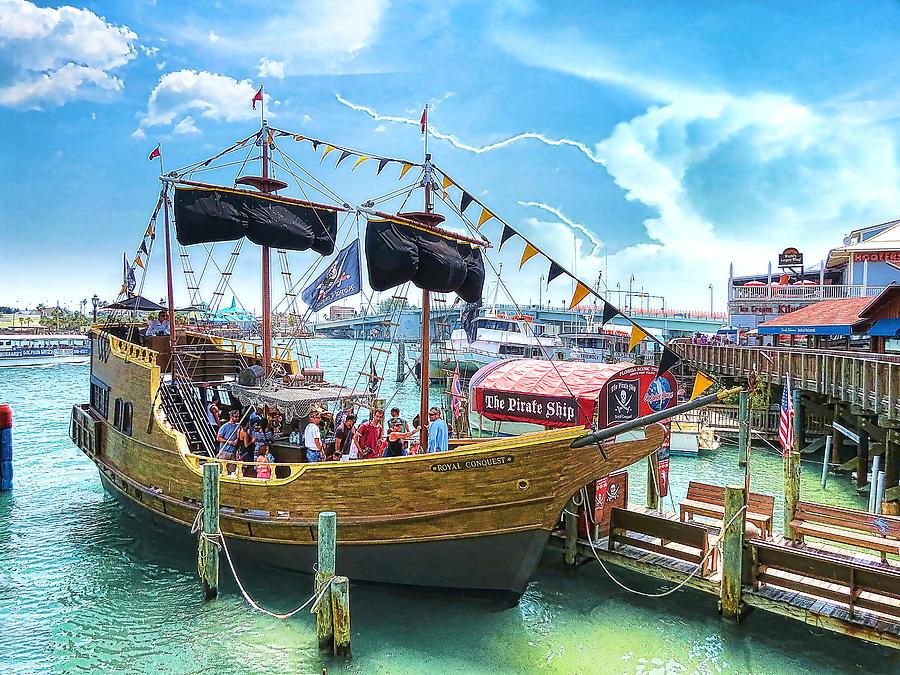 Pirate Ship Photograph - Pirate Ship by Stephen Warren