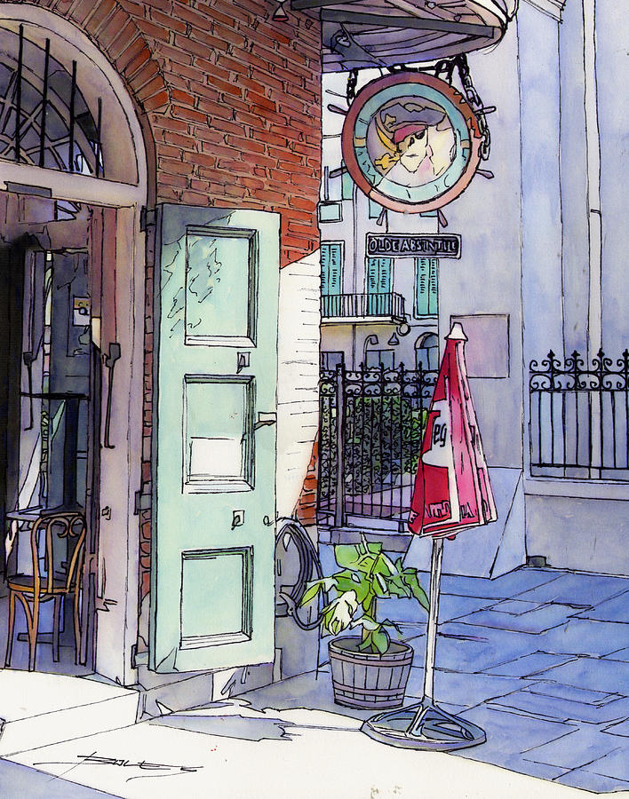New Orleans Painting - Pirates Alley 161 by John Boles