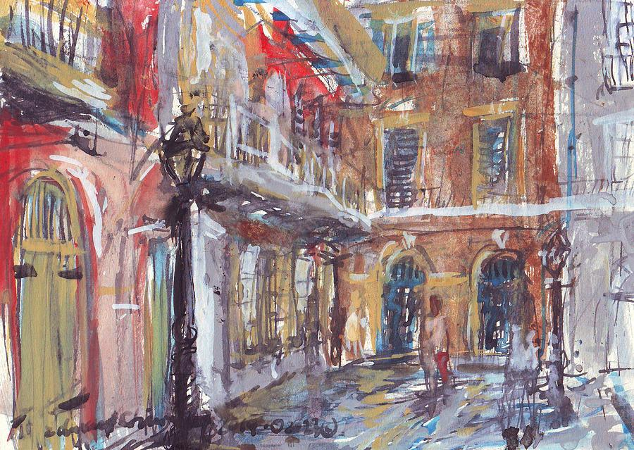 Café Drawing - Pirates Alley by Edward Ching