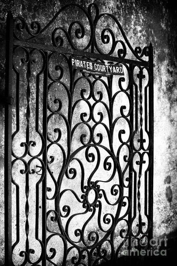 Entrance Photograph - Pirates Courtyard by John Rizzuto