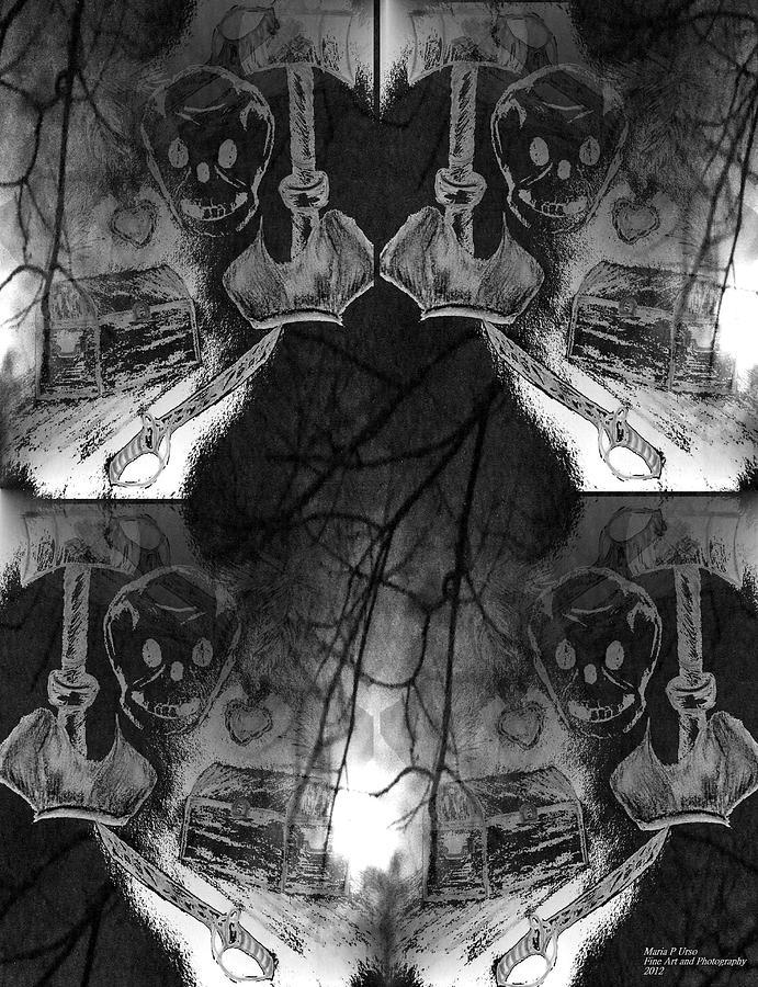 Pirate Mixed Media - Pirates Keepsake by Maria Urso