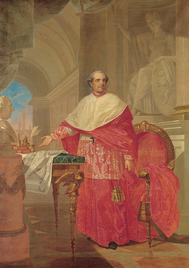 Cardinal Photograph - Pirovani Giuseppe, Portrait Of Cardinal by Everett