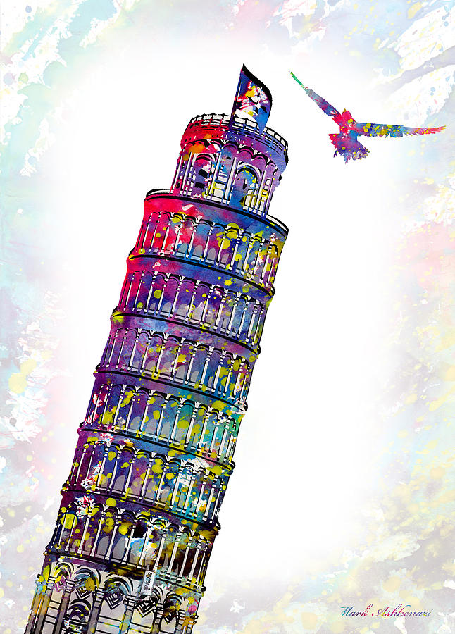 Pisa Tower Digital Art - Pisa Tower  by Mark Ashkenazi