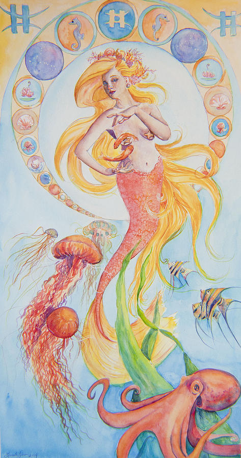 Ocean Painting - Pisces by Sarah Job