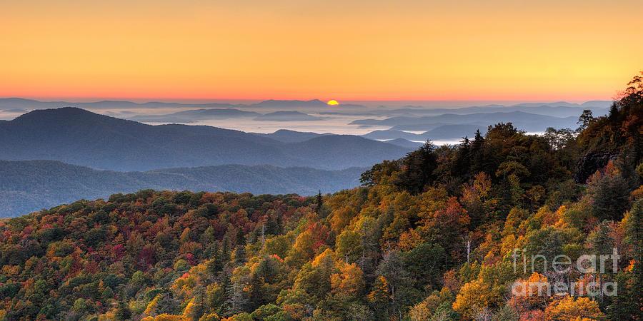 North Carolina Photograph - Pisgah Sunrise - Blue Ridge Parkway by Dan Carmichael