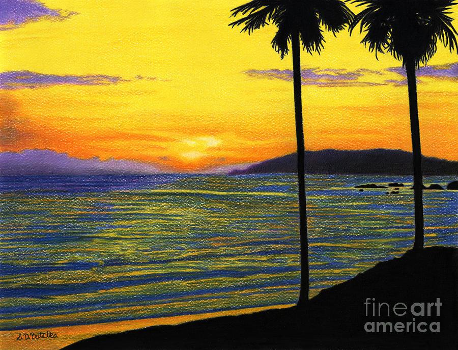 Pismo Beach California Painting - Pismo Beach California Sunset by Sarah Batalka