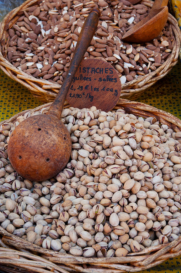 Color Image Photograph - Pistachios For Sale At Weekly Market by Panoramic Images