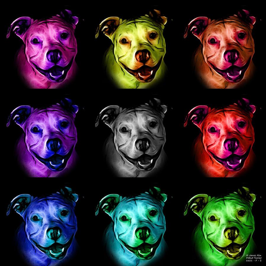 Pitbull Terrier Pop Art - F - S - Bb - Mosaic