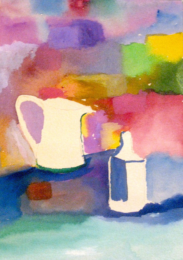 Watercolor Painting - Pitcher And Jug by James Gallagher