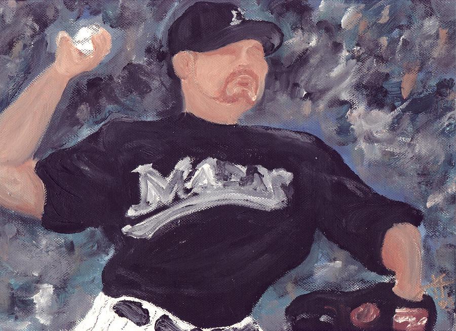Baseball Painting - Pitchin Penny by Jorge Delara
