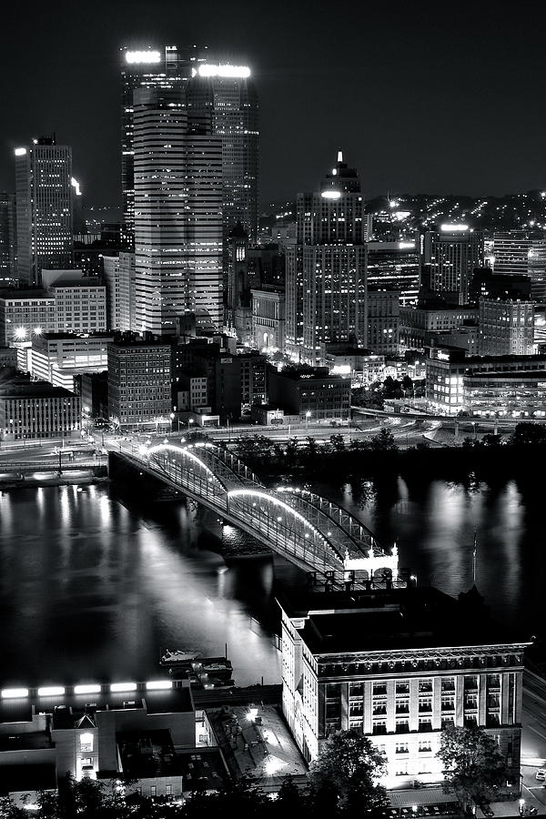 Pittsburgh Photograph - Pittsburgh Black And White  by Frozen in Time Fine Art Photography