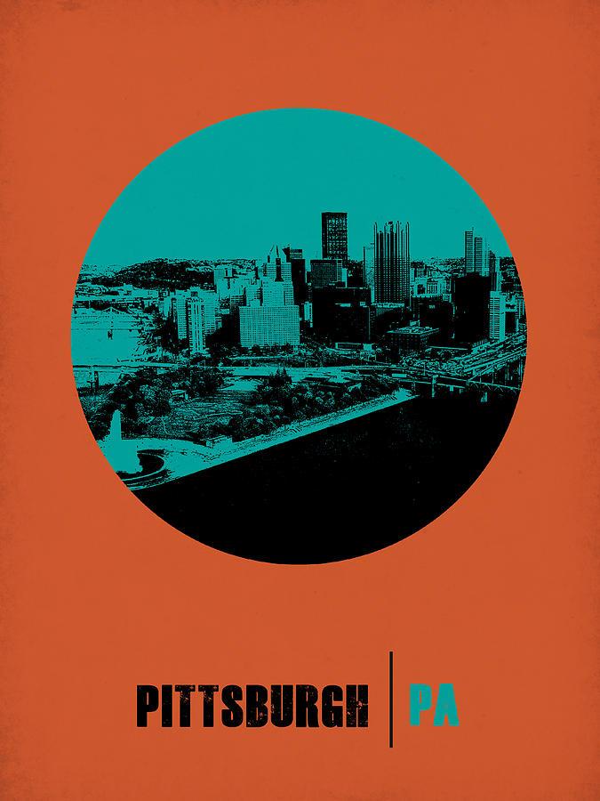 Pittsburgh Photograph - Pittsburgh Circle Poster 1 by Naxart Studio