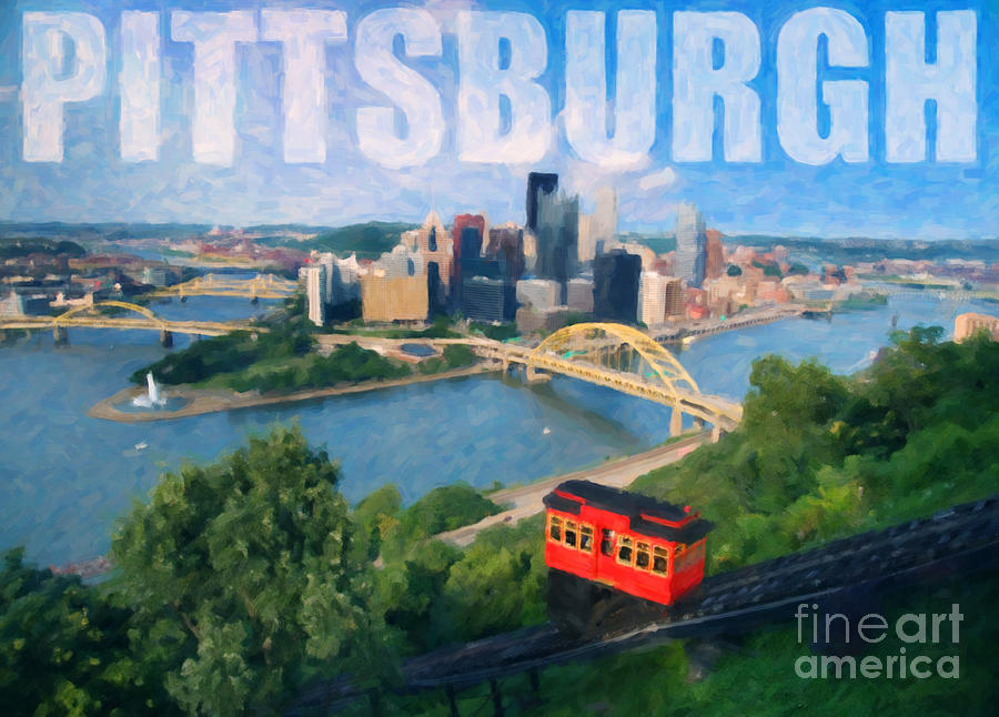 Pittsburgh Photograph - Pittsburgh Digital Painting by Sharon Dominick