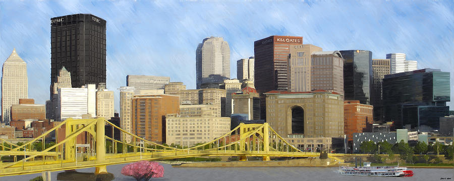 Pittsburgh Painting - Pittsburgh From Pnc Park by David Head