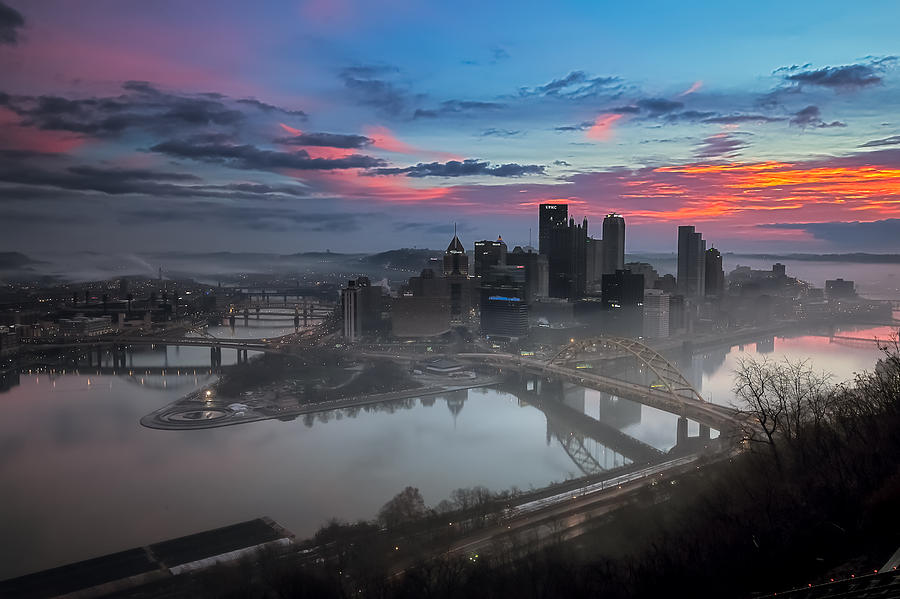 Pittsburgh Photograph - Pittsburgh January Thaw by Jennifer Grover
