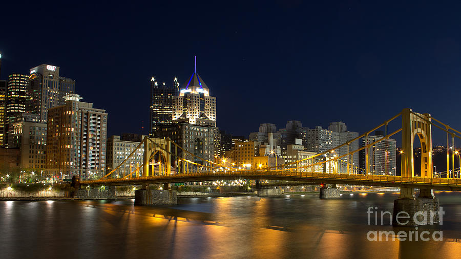Pittsburgh Photograph - Pittsburgh Lights by Mike Vosburg