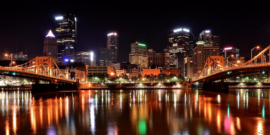 Pittsburgh Photograph - Pittsburgh Panorama by Frozen in Time Fine Art Photography