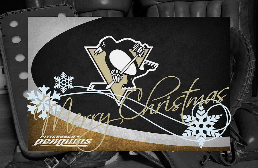 Penguins Photograph - Pittsburgh Penguins Christmas by Joe Hamilton