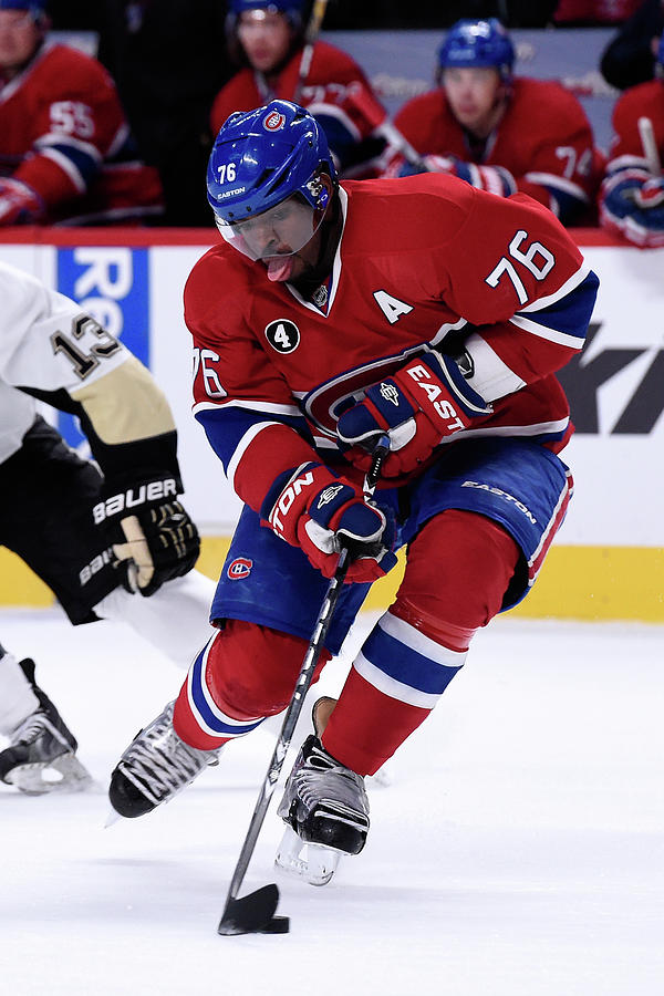 Pittsburgh Penguins V Montreal Canadiens Photograph by Richard Wolowicz