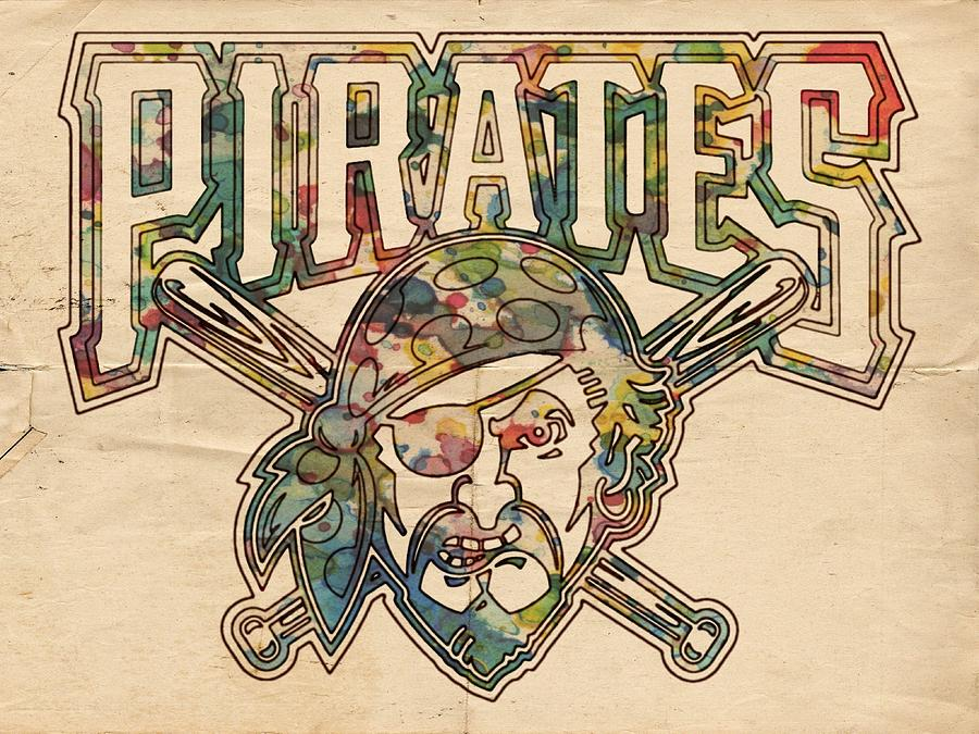 Pittsburgh Pirates Painting - Pittsburgh Pirates Poster Vintage by Florian Rodarte