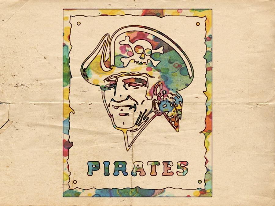 Pittsburgh Pirates Painting - Pittsburgh Pirates Vintage Art by Florian Rodarte