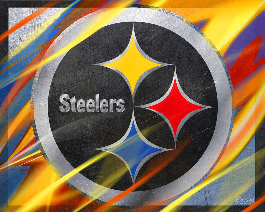 Pittsburgh Painting - Pittsburgh Steelers Football by Tony Rubino