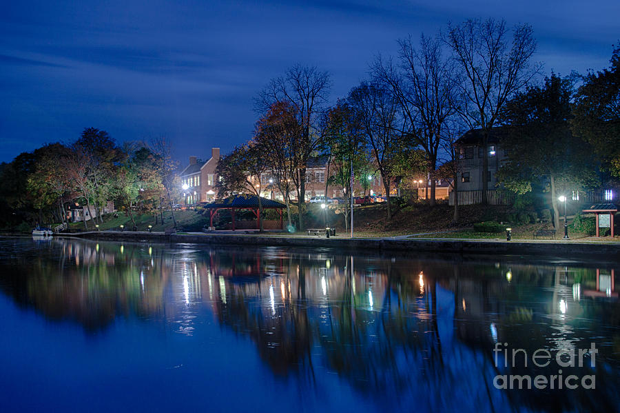 Pittsford On The Erie Canal Photograph by Steve Clough