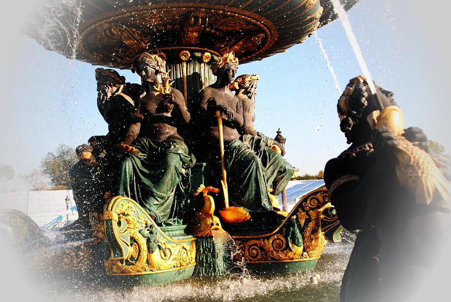 Paris Photograph - Place De La Concorde Fountain by Jacqueline M Lewis