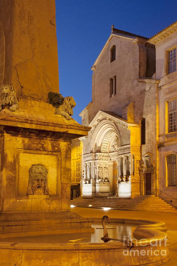 Arles Photograph - Place De La Republique by Brian Jannsen
