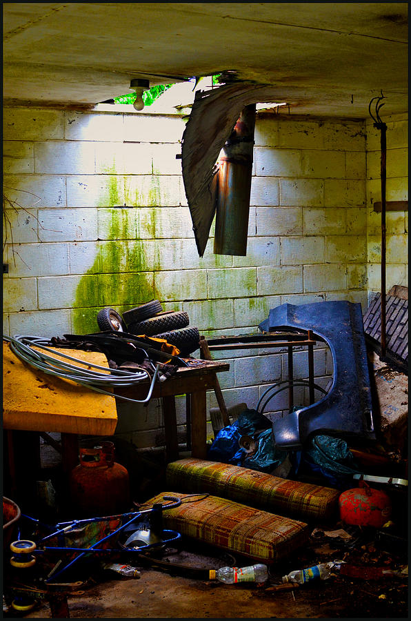 Garage Pyrography - Place For My Stuff by Jeffrey Platt