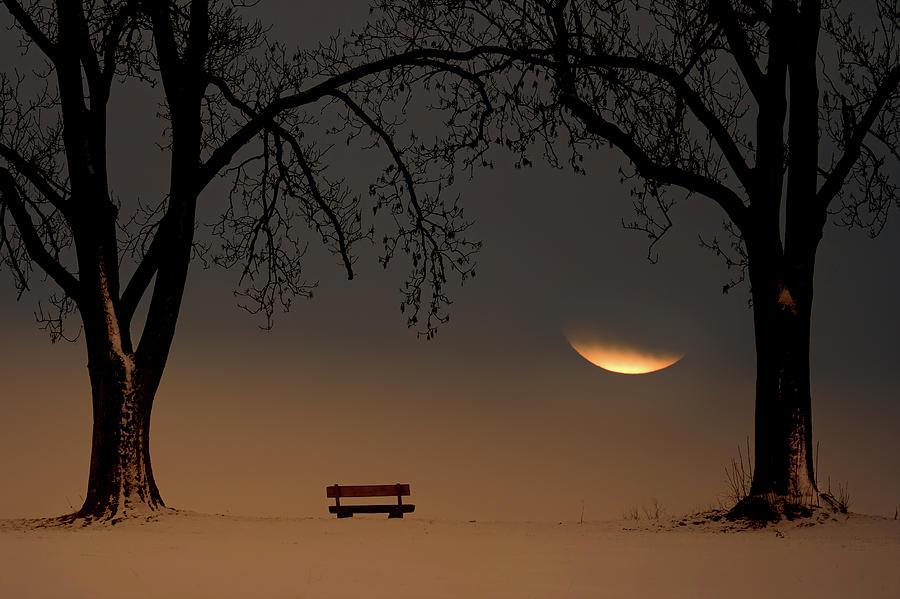 Moon Photograph - Place Of Silence by Ingo Dumreicher