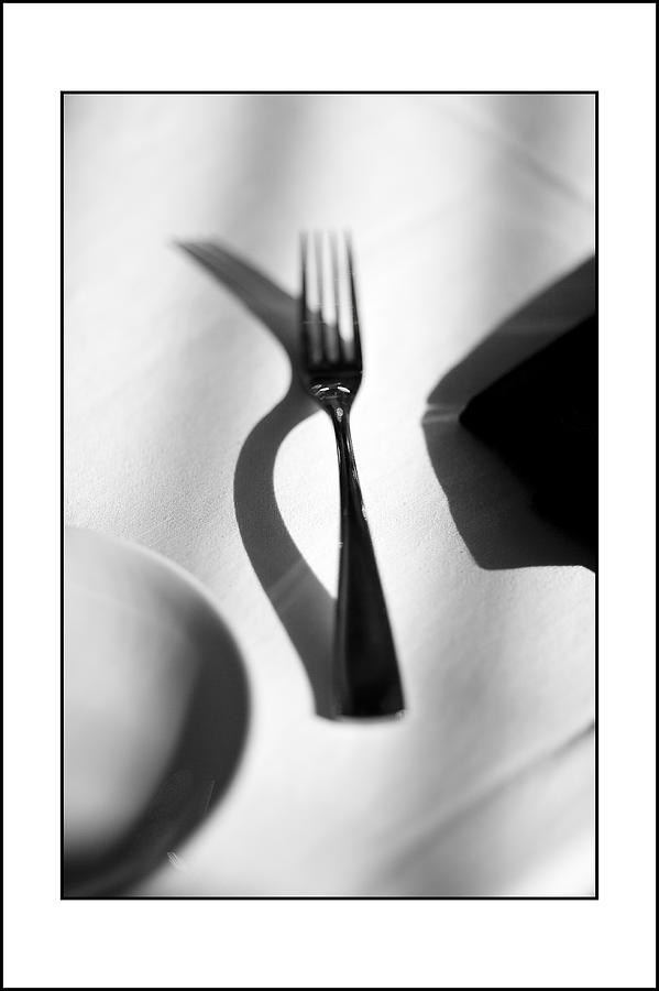 Forks Photograph - Place Setting Simplicity by Don Powers