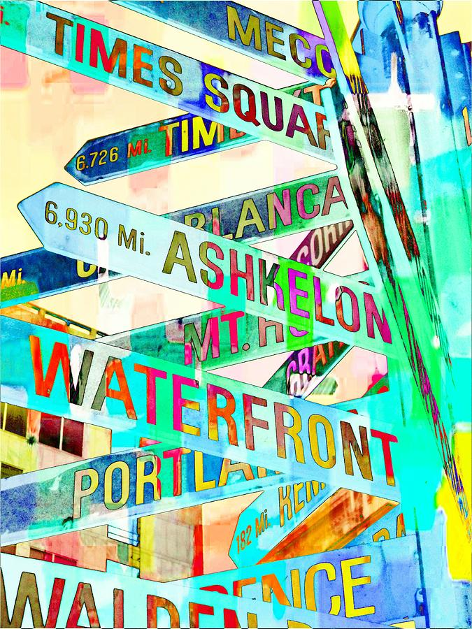 Downtown Portland Photograph - Places In Color by Cathie Tyler