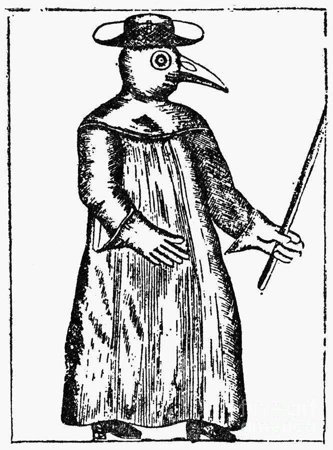 1720 Photograph - Plague Costume, 1720 by Granger
